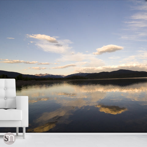 MIRROR LAKE LANDSCAPE - Nature Wall Mural living room