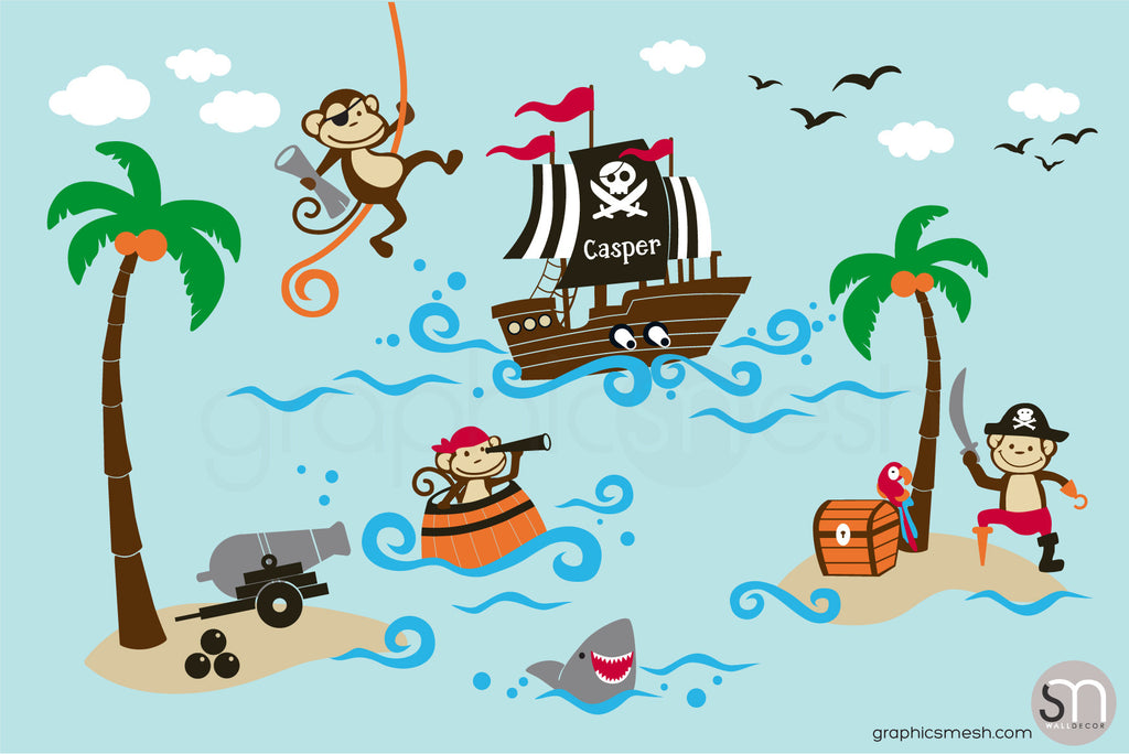 Pirate monkeys set
