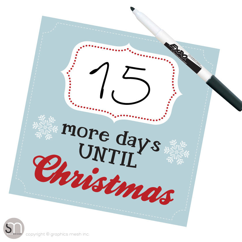 Until Christmas.Christmas Countdown More Days Until Christmas In Blue Dry Erase