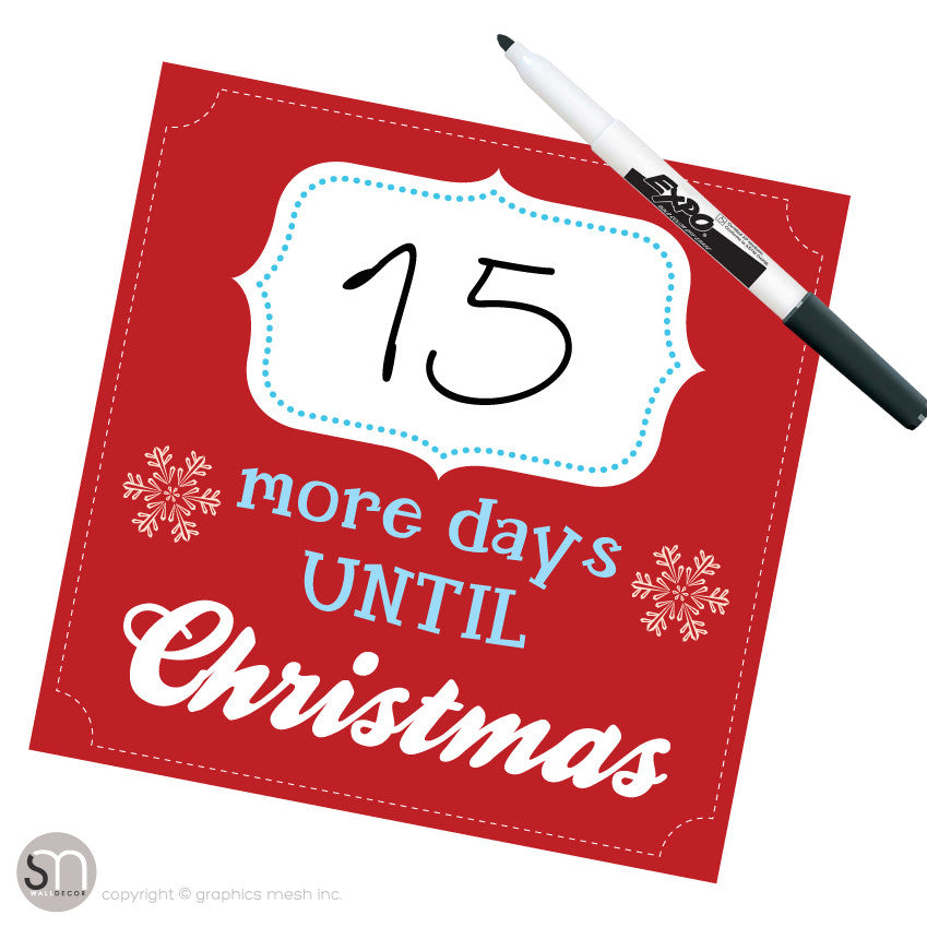 Copy of MORE DAYS UNTIL CHRISTMAS IN red - Dry Erase