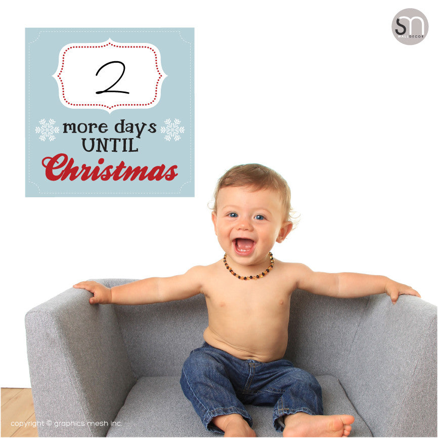 Copy of MORE DAYS UNTIL CHRISTMAS IN BLUE - Dry Erase baby poster
