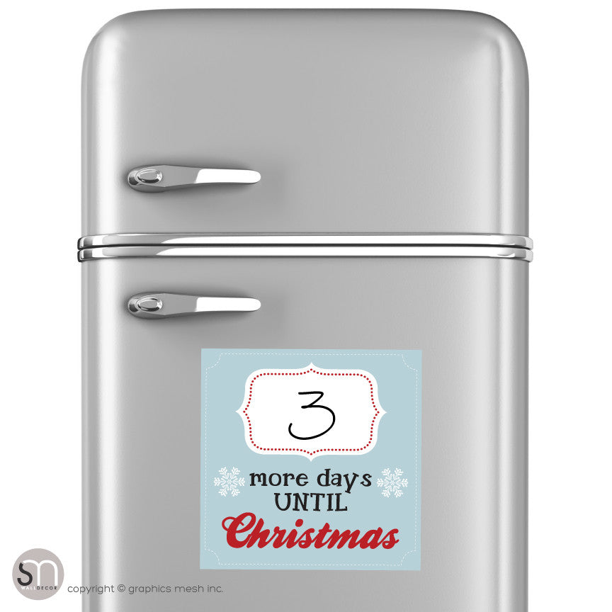 Copy of MORE DAYS UNTIL CHRISTMAS IN BLUE - Dry Erase fridge