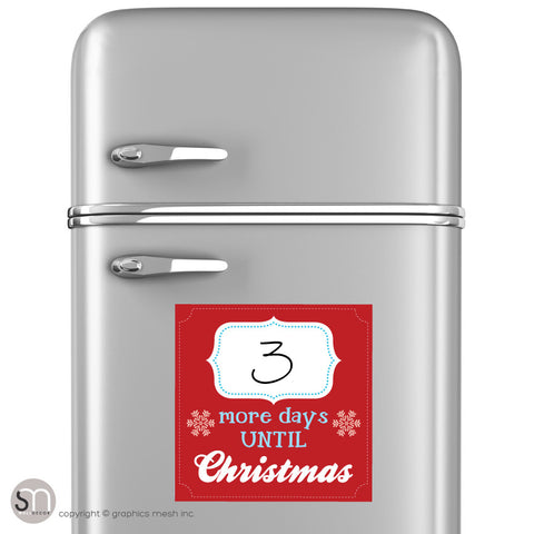 MORE DAYS UNTIL CHRISTMAS - RED - Dry Erase fridge