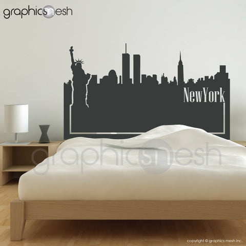 NEW YORK SKYLINE HEADBOARD - Wall Decals