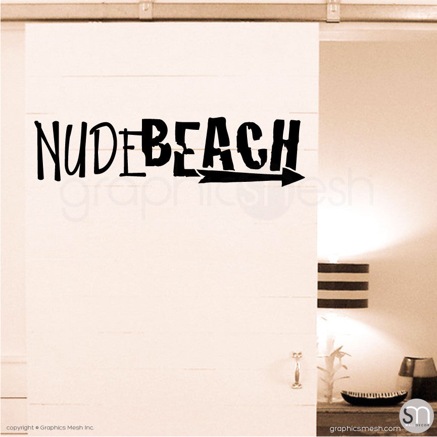 NUDE BEACH - WALL DECAL black