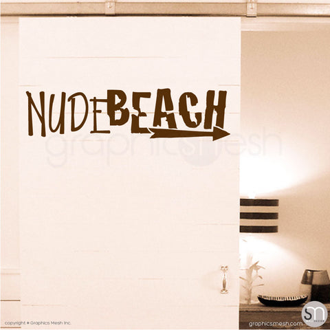 NUDE BEACH - WALL DECAL Brown