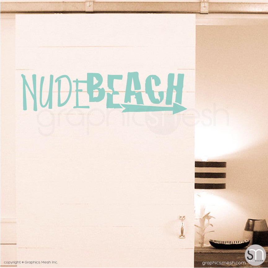 NUDE BEACH - WALL DECAL Mint