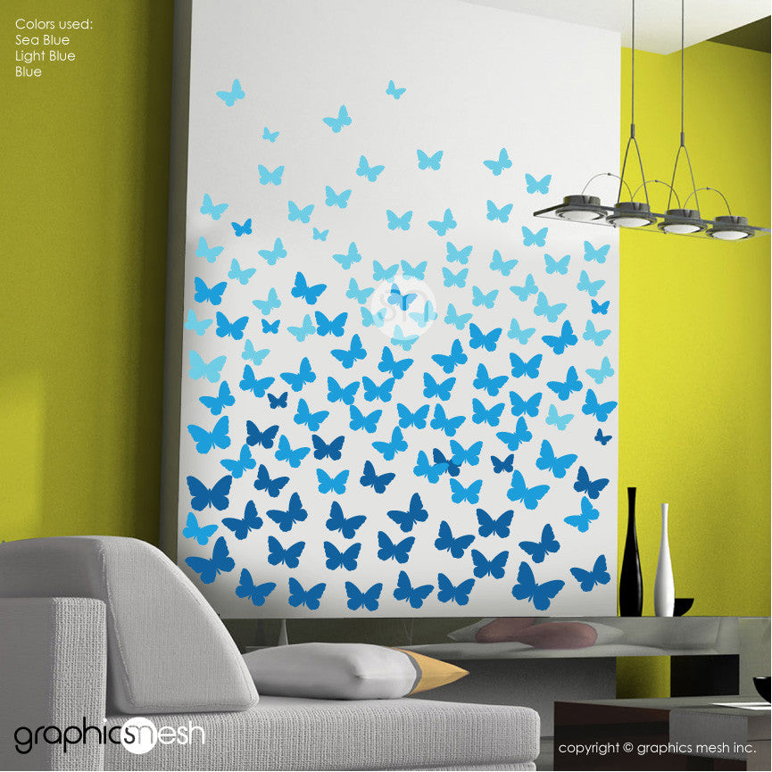 OMBREE BUTTERFLIES - Wall Decals