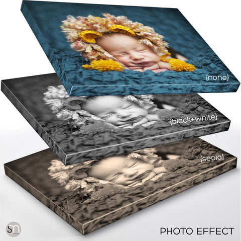 CUSTOM PRINTED CANVAS photo effect