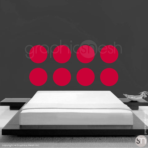 "8 x 13.5"" POLKA DOTS - Wall Decals red"