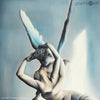 BLUE PSYCHE REVIVED BY CUPIDS KISS - Reproduction of Original Fine Art Painting - Glicee Print middle