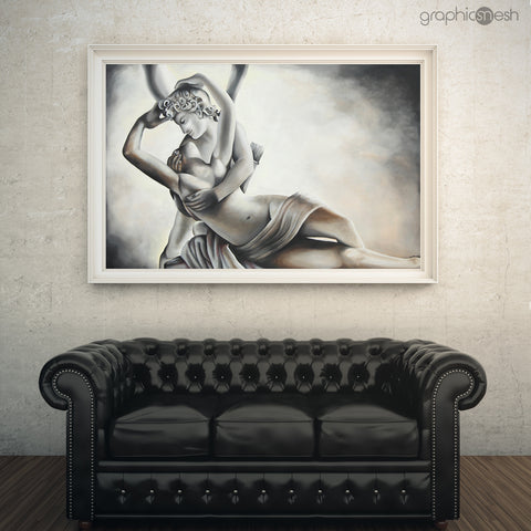 Psyche Revived by the Kiss of Eros Reproduction of Original Fine Art Painting - Glicee Print