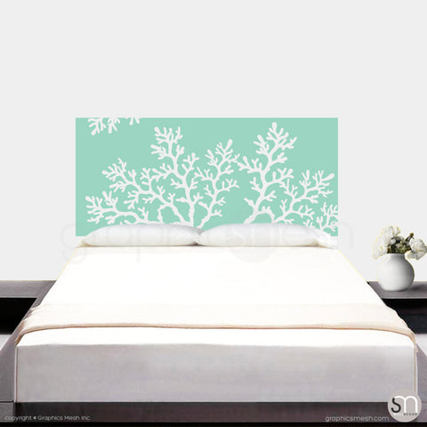 CORAL BRANCH HEADBOARD - Wall Decal mint