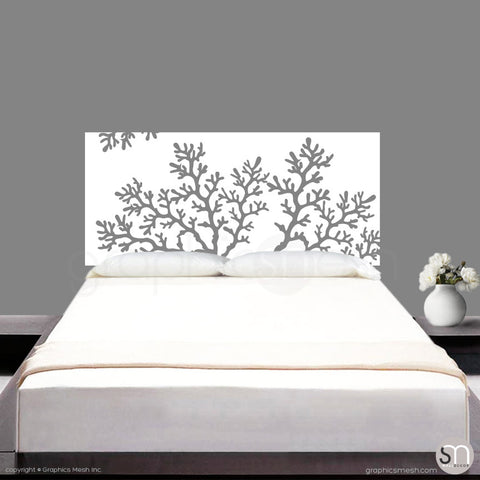 CORAL BRANCH HEADBOARD - Wall Decal white