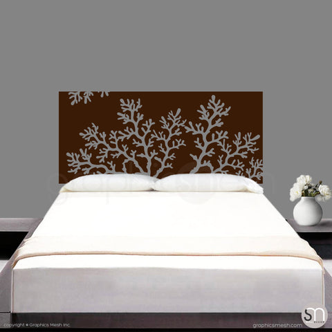 CORAL BRANCH HEADBOARD - Wall Decal brown