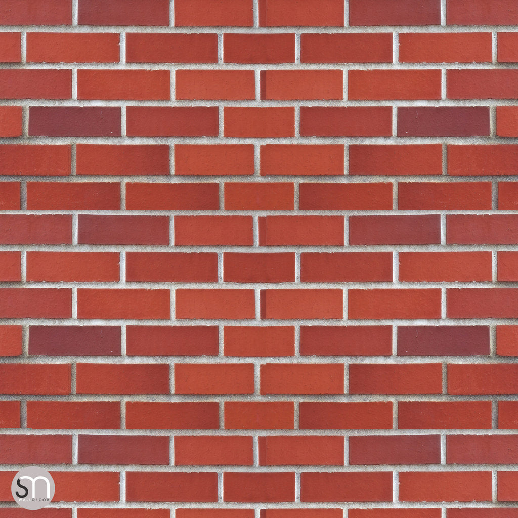RED BRICK -  Peel & Stick Realistic Texture Wallpaper