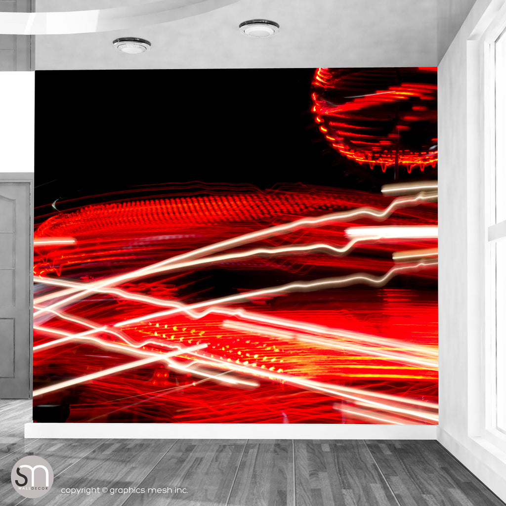 RED LIGHTS - Abstract Wall Mural