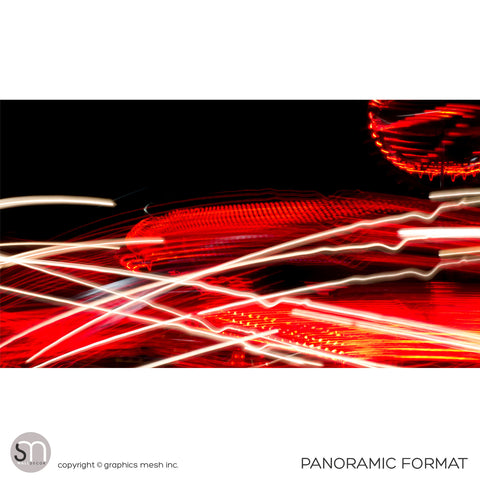 RED LIGHTS - Abstract Wall Mural panoramic