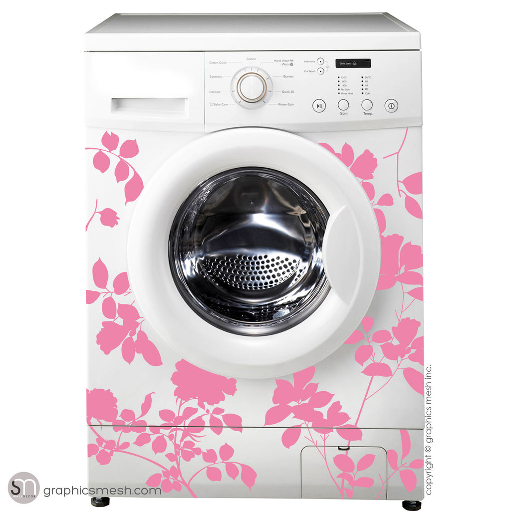 ROSES FLOWER WASHER DECOR - Domesticated Wall Decals Pink