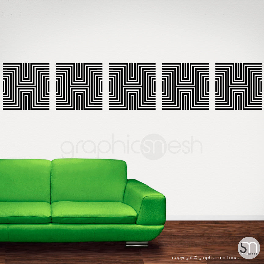 DIAMOND OPTICAL ILLUSION - Wall Decals black
