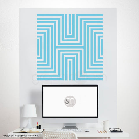 DIAMOND OPTICAL ILLUSION - Wall Decals sea blue