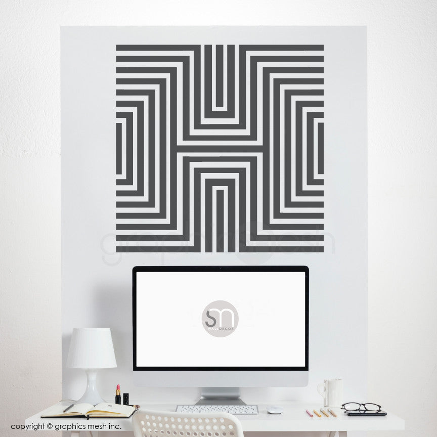 DIAMOND OPTICAL ILLUSION - Wall Decals dark grey