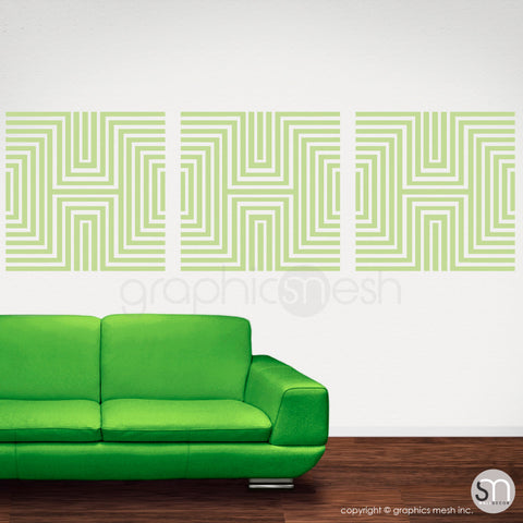 DIAMOND OPTICAL ILLUSION - Wall Decals key lime pie
