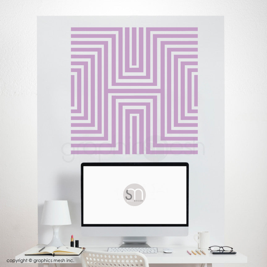 DIAMOND OPTICAL ILLUSION - Wall Decals lavender
