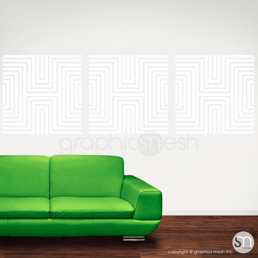 DIAMOND OPTICAL ILLUSION - Wall Decals white