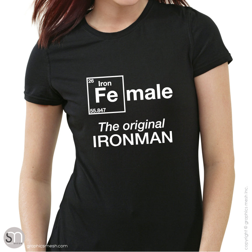 "FeMale ""The original IRONMAN""- Triathlon sports shirt"