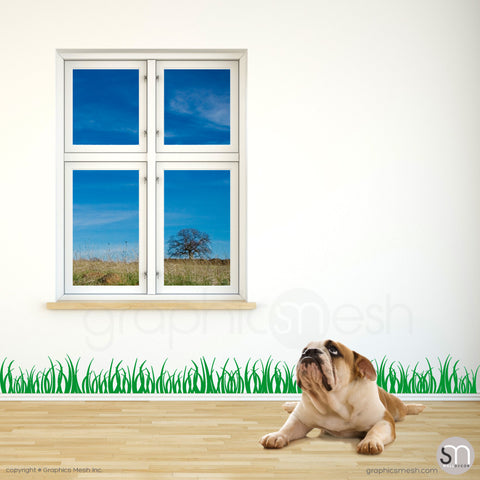 GRASS WALL DECALS 6 inch tall