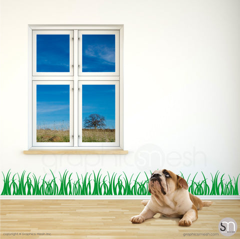 GRASS WALL DECALS 8 inch tall