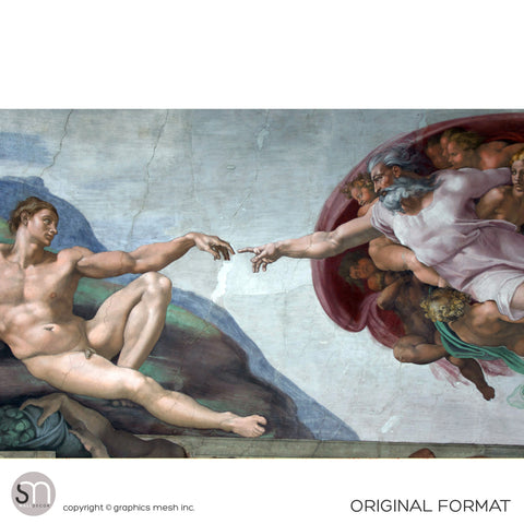 The Creation of Adam - Sistine Chapel Masterpiece by MICHELANGELO - Wall Mural