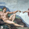The Creation of Adam - Sistine Chapel Masterpiece by MICHELANGELO - Wall MuralThe Creation of Adam - Sistine Chapel Masterpiece by MICHELANGELO - Wall Mural FORMAT1