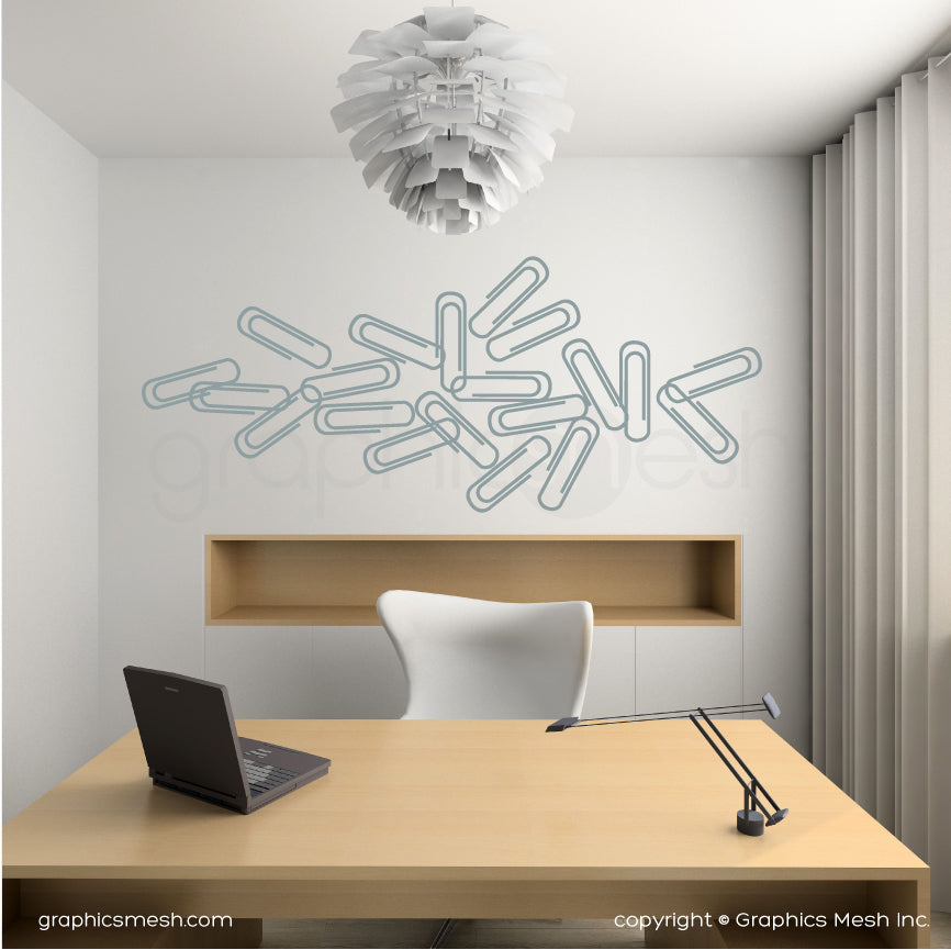 PAPER CLIPS - Wall decals