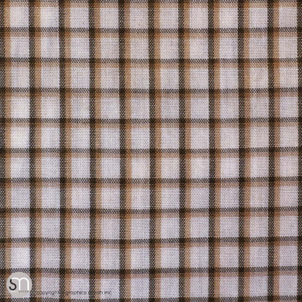 MUTED PLAID TEXTURE - Peel & Stick Abstract Wallpaper