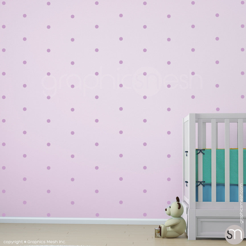 POLKA DOTS MINI - Wall Decals lavender
