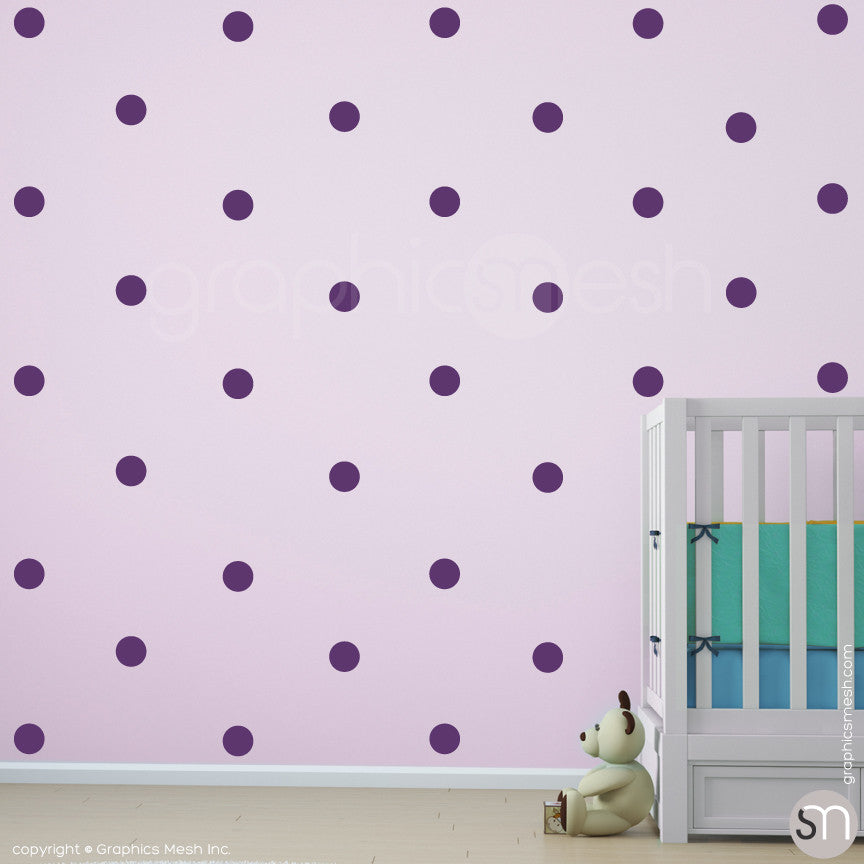 POLKA DOTS MINI - Wall Decals Violet