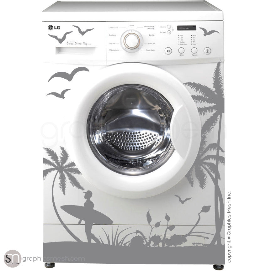 Fall Leaves Washer Decor Domesticated Wall Decals