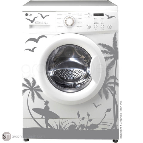 SUMMER SURFING WASHER DECOR grey