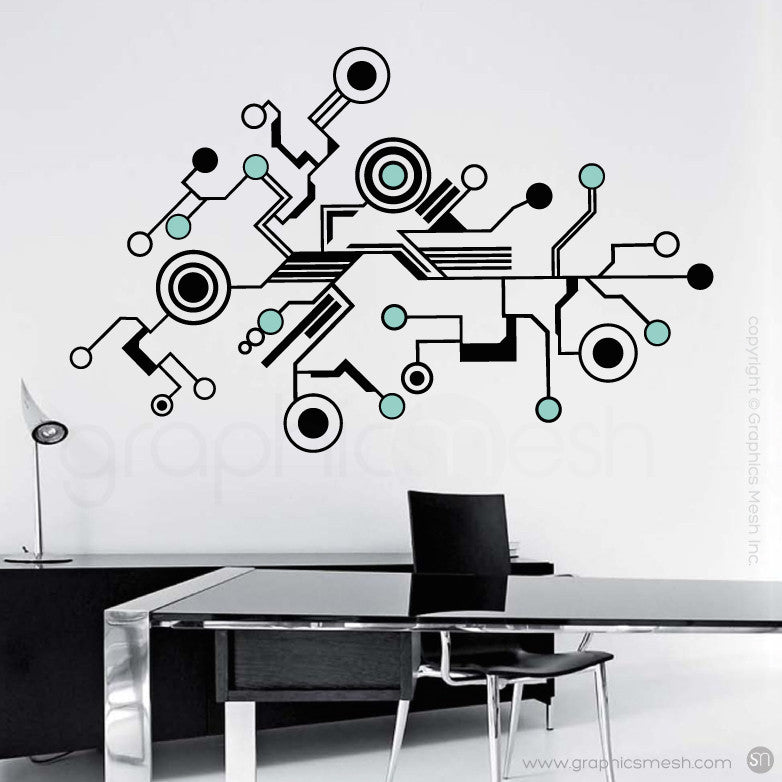 TECH SHAPES - wall decals mint