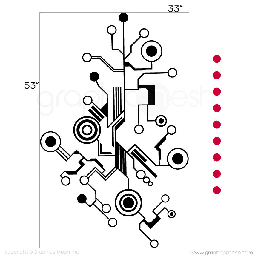 TECH SHAPES - wall decals medium