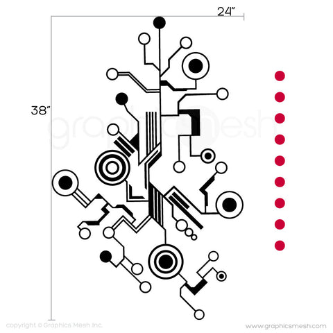 TECH SHAPES - wall decals small