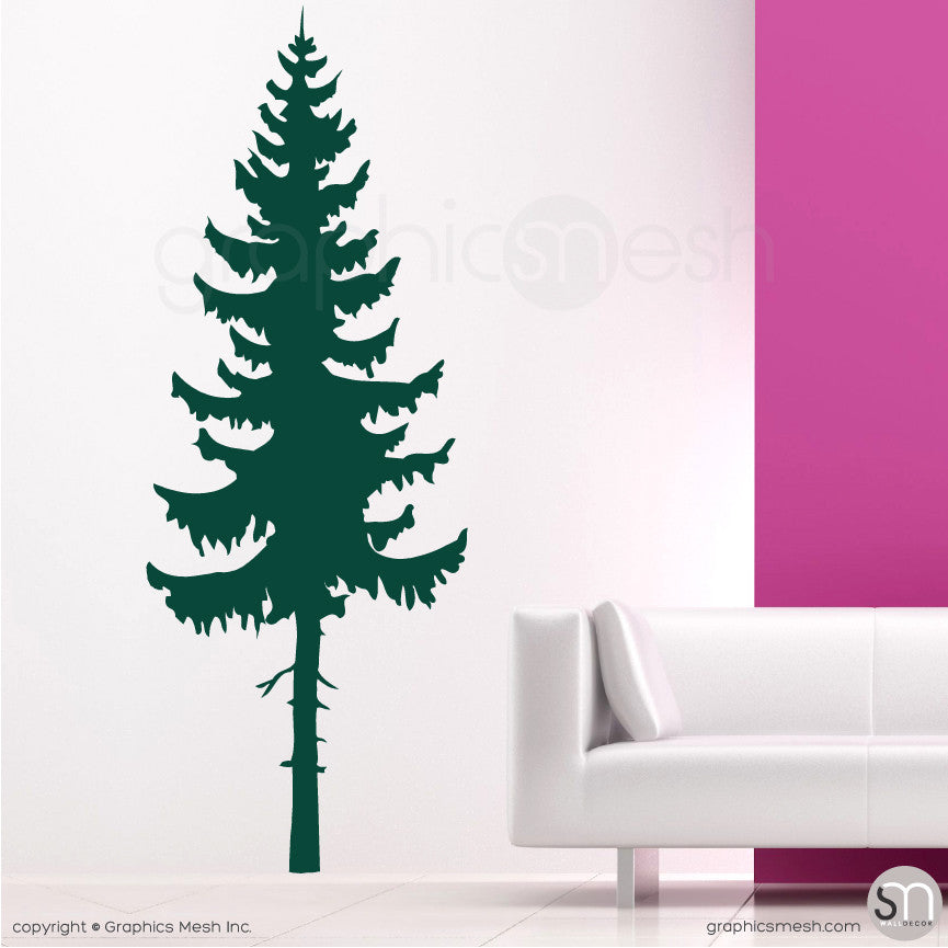 PINE TREE - Wall Decals Dark Green