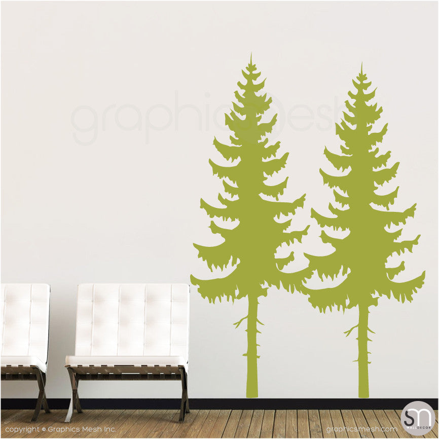 PINE TREES SET - Wall Decals