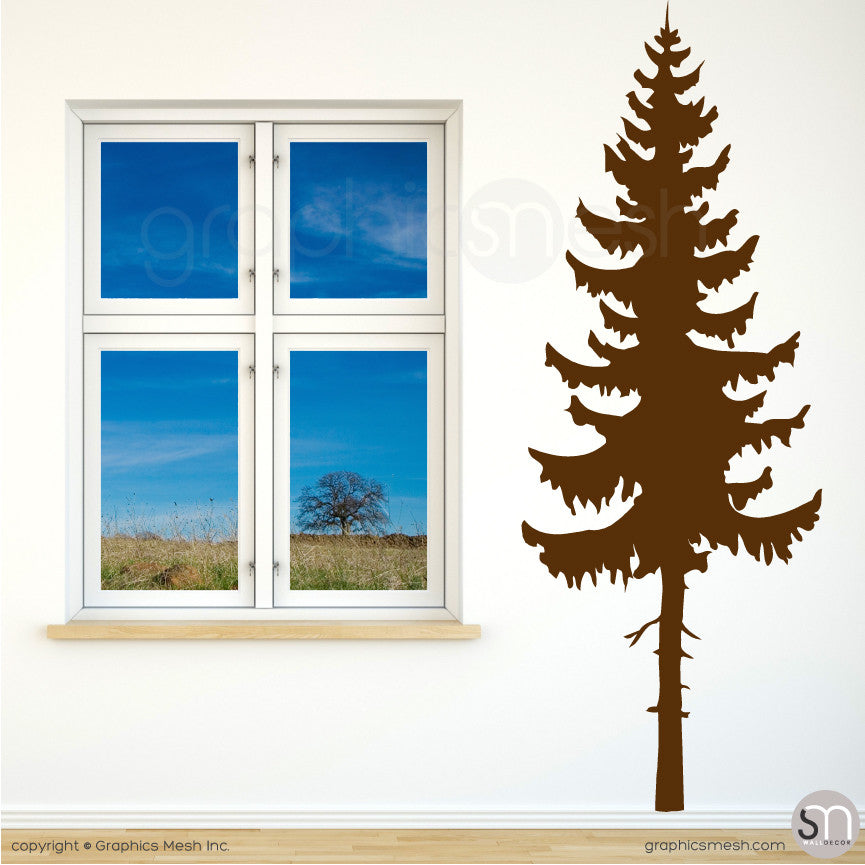 PINE TREE - Wall Decals Brown