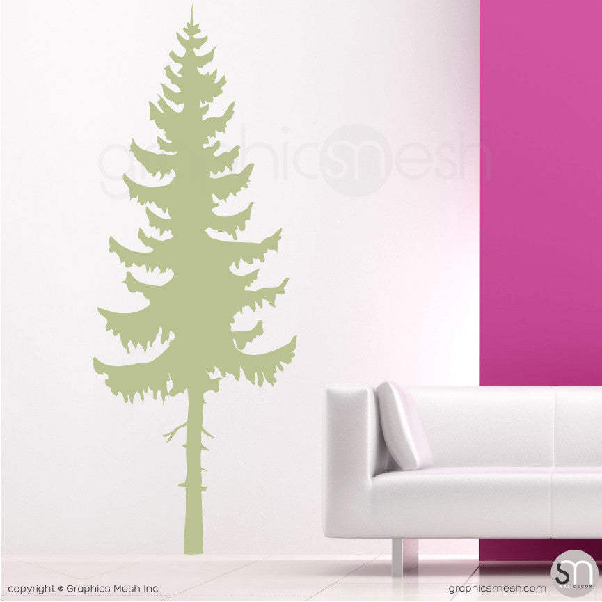 PINE TREE - Wall Decals Sage