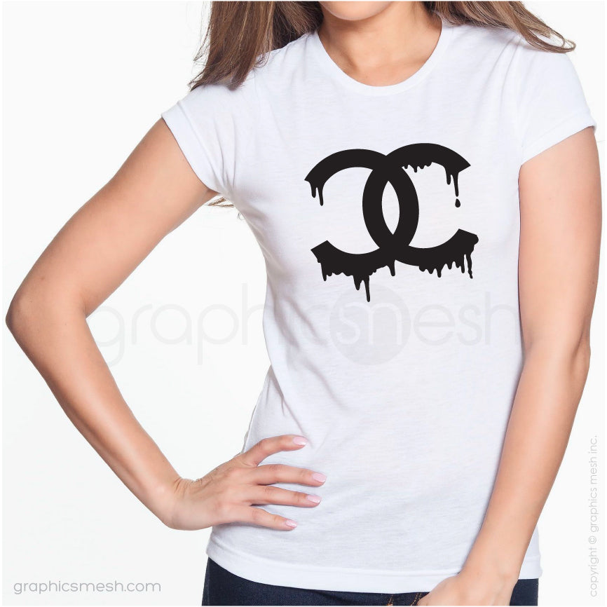 DRIPPING CHANEL LOGO - Shirt for her