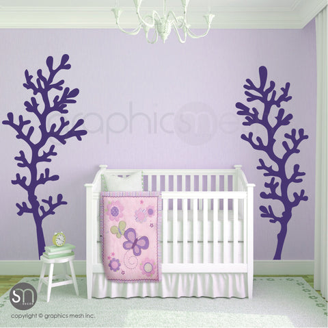 TWO LARGE CORAL BRANCHES - Wall Decals violet