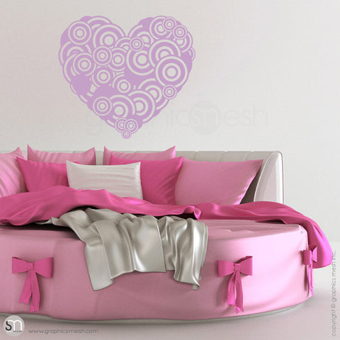 CIRCLES HEART - Wall Decals lavender